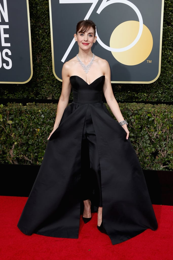 Alison Brie Women Who Wore Pants To Golden Globes 2018