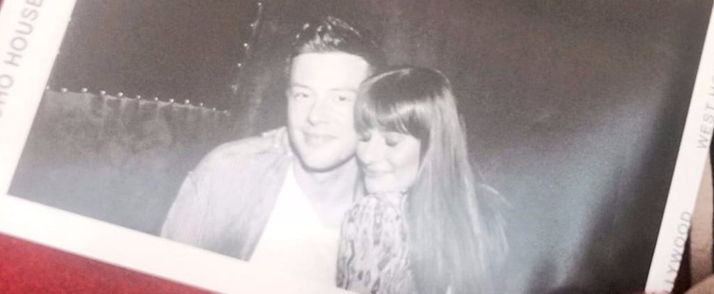 Lea Michele's Twitter Picture With Cory Monteith 2017