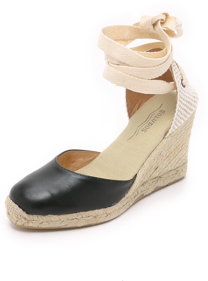 6905111856b7 Soludos Leather Tall Wedge Espadrilles (£78)