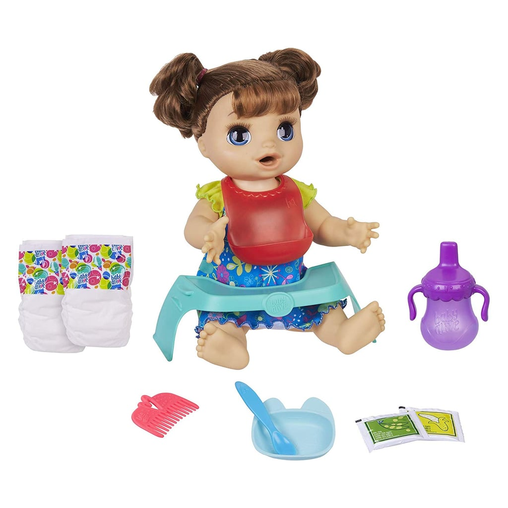 For 6-Year-Olds: Baby Alive Happy Hungry Baby Brown Straight Hair Doll