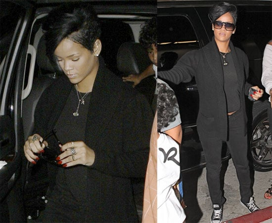 Photos of Rihanna Wearing All Black in NYC