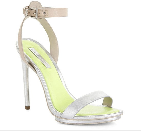 The shoe that could take you from wedding to wedding all season, aka BCBG Max Azria's Finite high-heel ankle-strap sandal ($175).