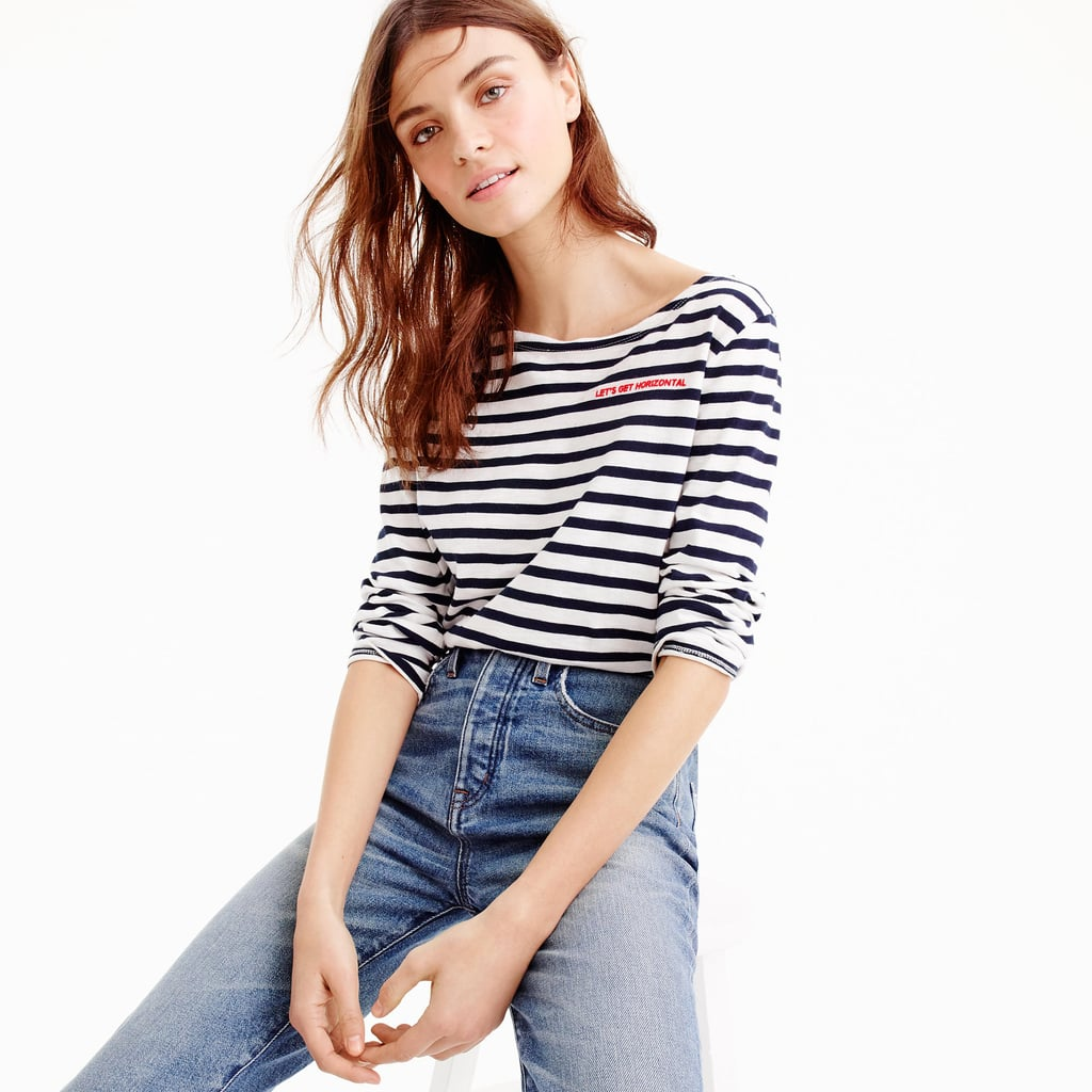 """J.Crew Limited-Edition National Stripes Day T-Shirt in """"Let's Get Horizontal"""""""