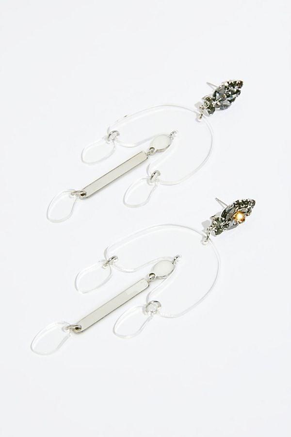 Free People Lucite Crystal Earrings