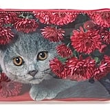 Small Cat Flowers Cosmetics Case