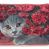 Small Cat Flowers Cosmetics Case