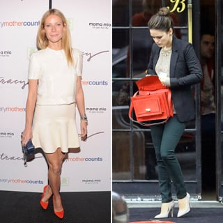Where To Get Gwyneth Paltrow's Red Shoes And Rachel Bilson's Red Bag