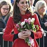 February: Kate delighted us with a surprise visit to Northern Ireland.