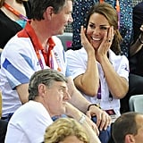 Kate watched Team GB bring home a gold medal and world record in cycling.
