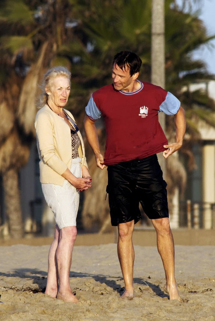 Stephen Moyer spent time in Venice Beach with his family.
