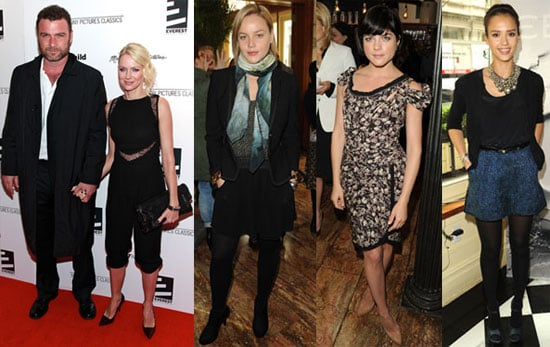 Pictures of Selma Blair, Liev Schreiber, Naomi Watts, Jessica Alba, and Abbie Cornish at the Tribeca Film Festival