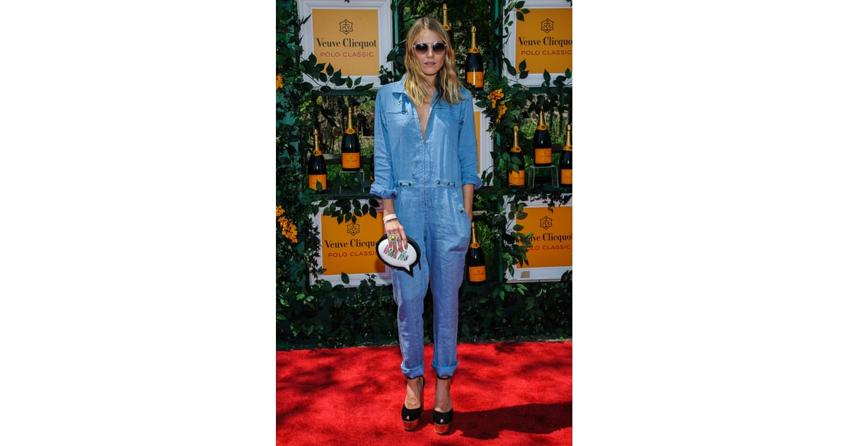 8bc2ce3b70fb Dare to wear a denim jumpsuit like the one Dree Hemingway wore to the