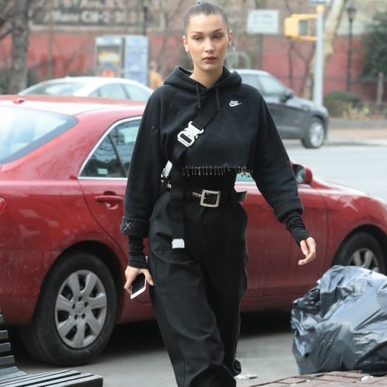 Bella Hadid Nike Sweatshirt With Safety Pins