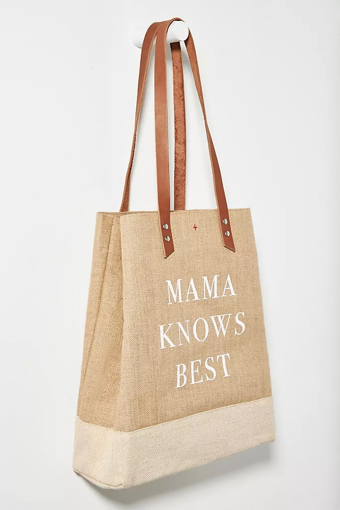 Mama Knows Best Jute Wine Tote