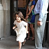 Katie Holmes and Suri Cruise left their hotel in NYC on Wednesday.