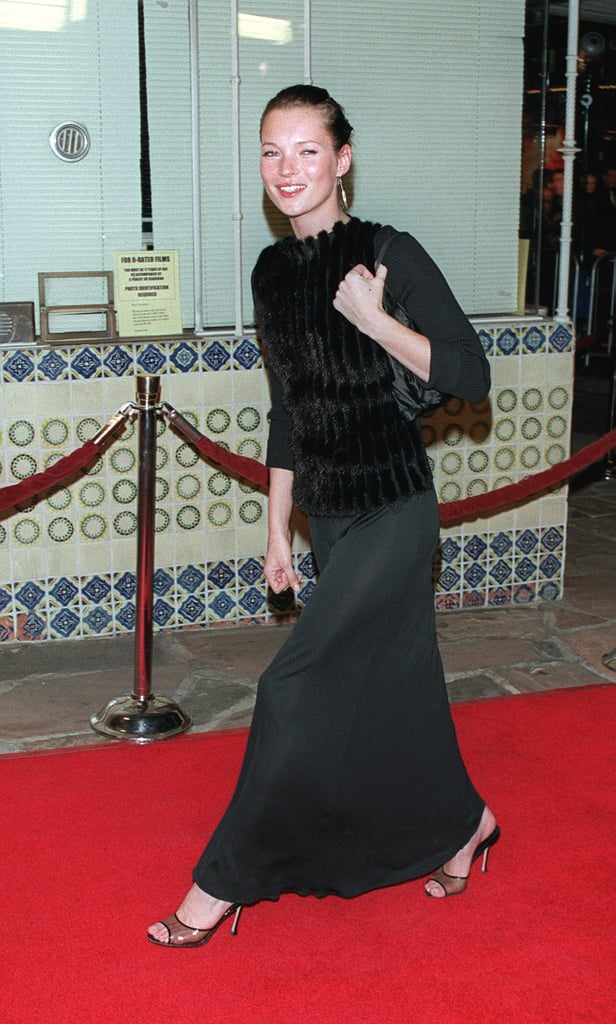 Attending the premiere of The Talented Mr. Ripley in 1999 wearing all-black look.