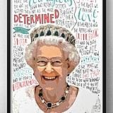 Queen Elizabeth II Typography Print