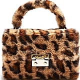 Topshop Fizz Leopard Print Faux Fur Top Handle Bag