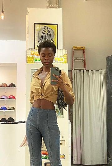 Gigi Hadid Posts a Street Style Shot of Model Nanga Awasum