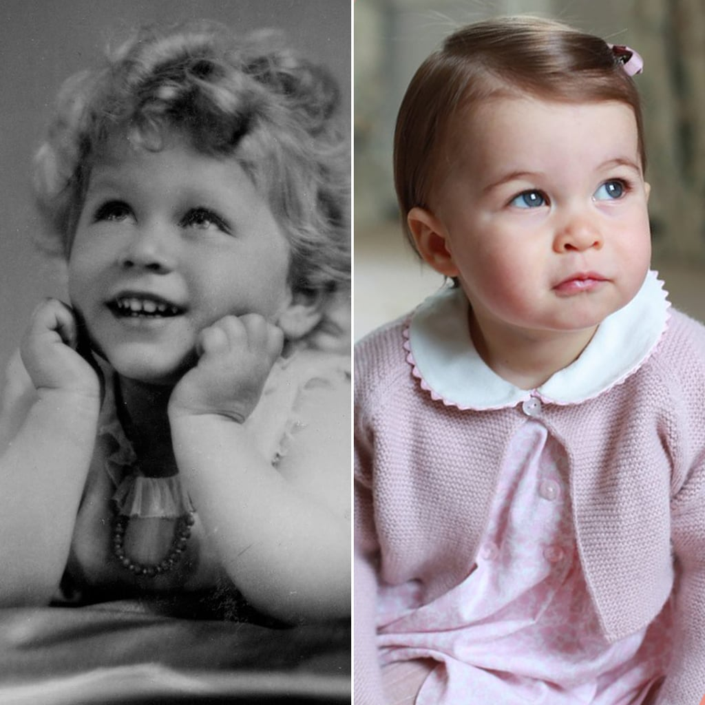 Princess Charlotte and Queen Elizabeth Lookalike Pictures