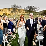 Elisa Donovan Charlie Bigelow walked down the aisle as man and wife.  Photos courtesy Scott Robert