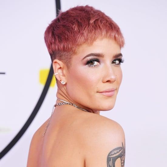 Halsey's Pink Hair at AMAs 2018