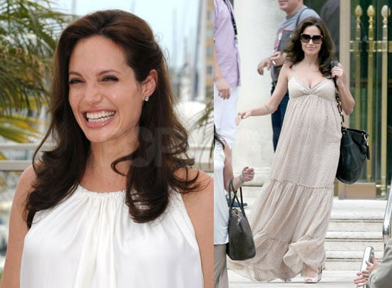 Angelina Jolie at Cannes Pregnant With Twins Due August 19
