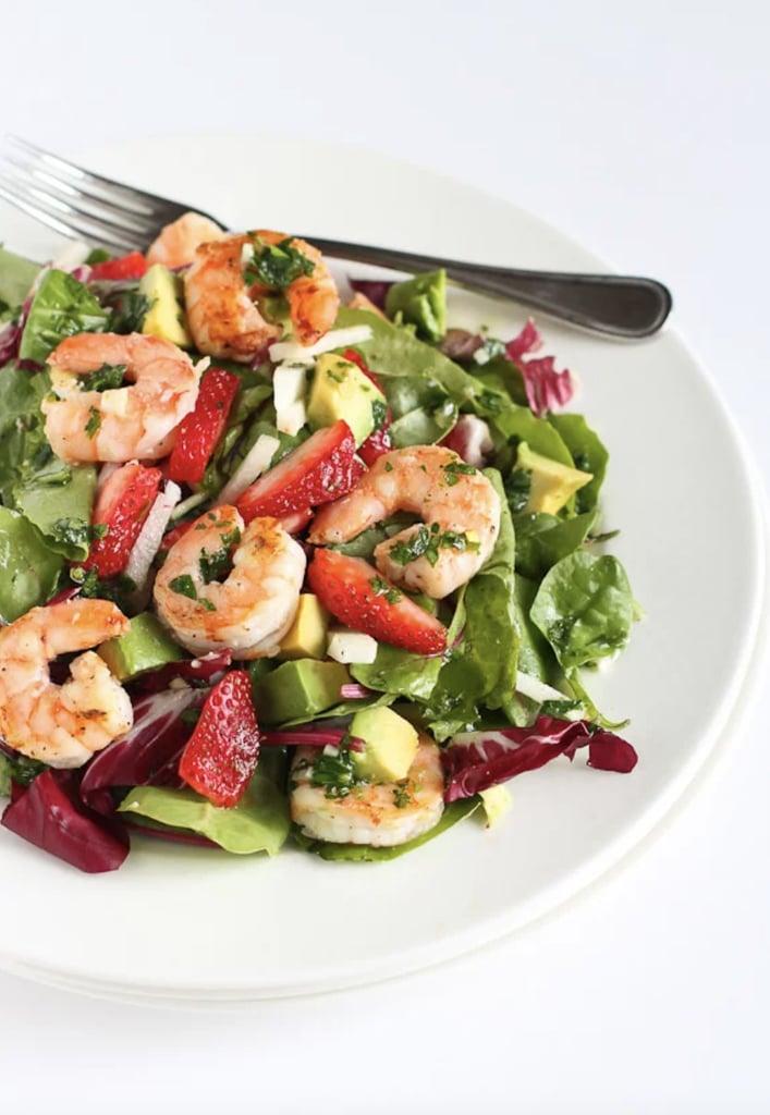 Shrimp Salad With Jicama, Strawberries, and Avocado