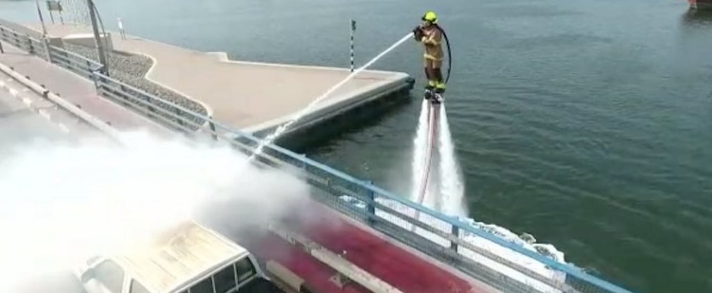 Dubai Firefighters Use Jetskis and Jetpacks