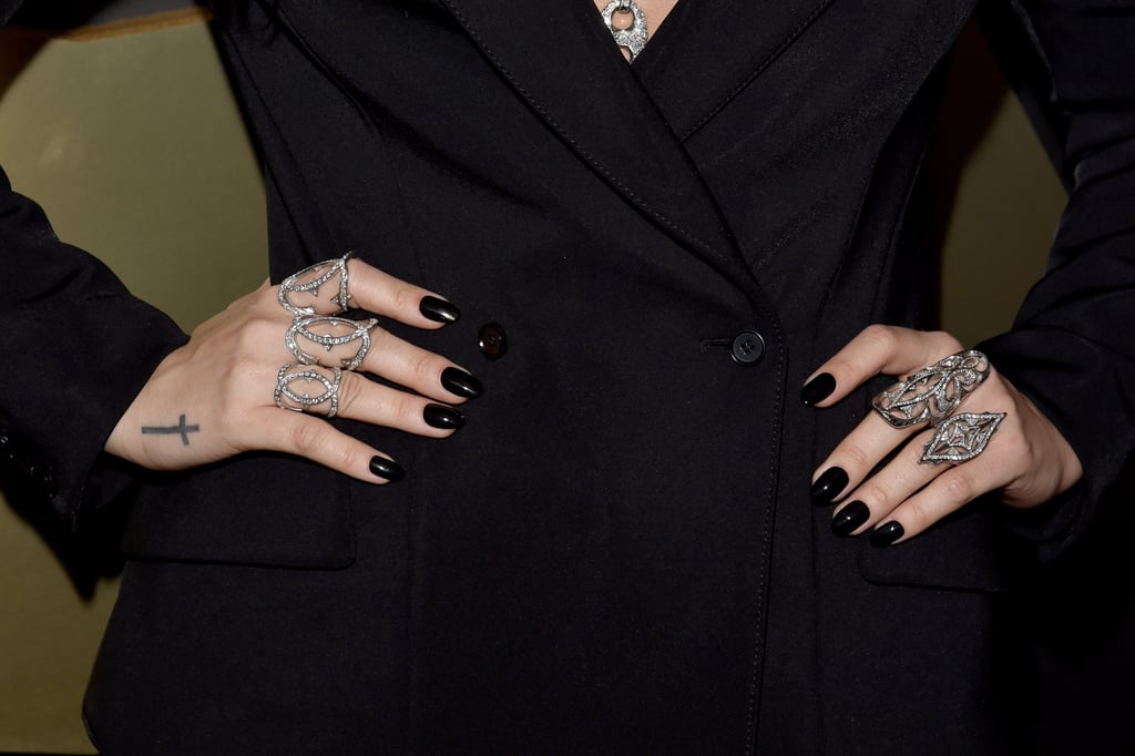 Wearing Loree Rodkin rings.