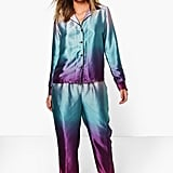 Tia Mermaid Print Satin Night Shirt + Trouser Set ($18, originally $32)