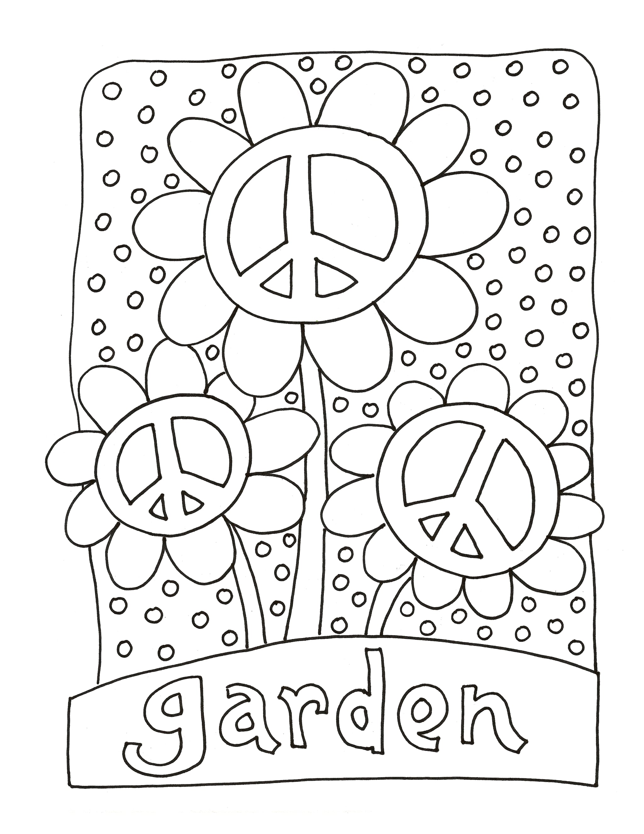 Get the coloring page: Garden | 50 Printable Adult Coloring Pages That Will  Help You De-Stress | POPSUGAR Smart Living Photo 43
