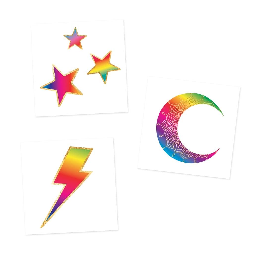 Flash Tattoos Cosmic Rainbows Variety Set