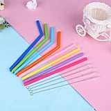 Supersellers Multi-color Silicone Reusable Drinking Straws