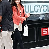 Katie Holmes went to SoulCycle.