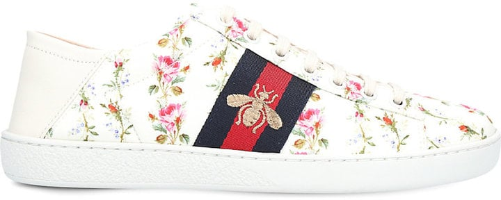 info for 9f63d 4d881 Gucci New Ace Floral and Bee Leather Trainers | Best Floral ...