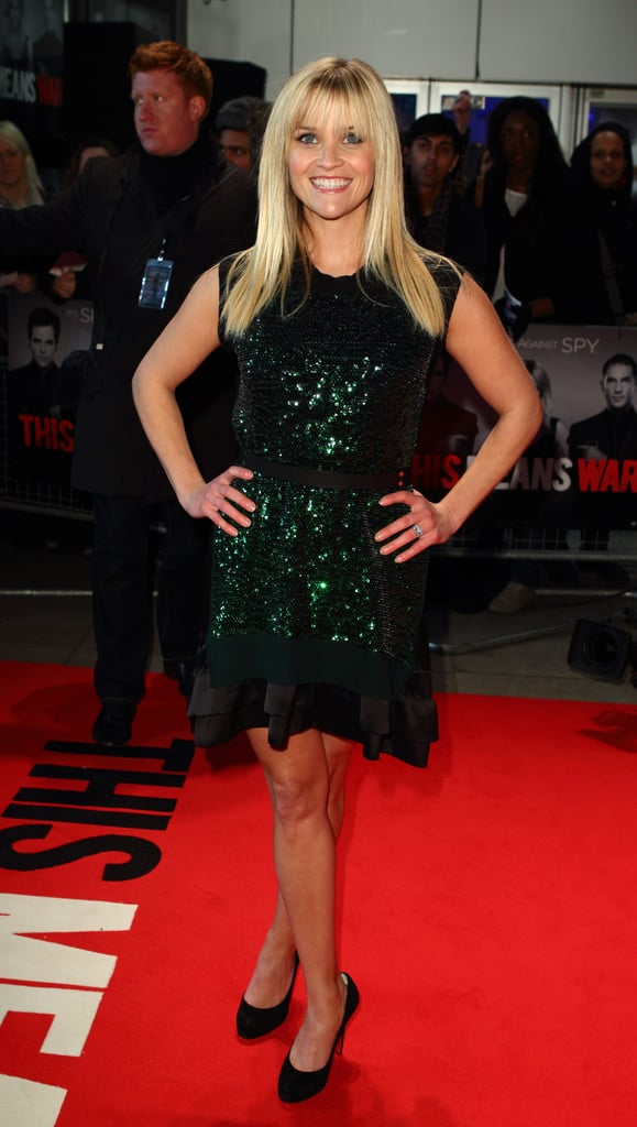 Reese hit the premiere in black stilettos.