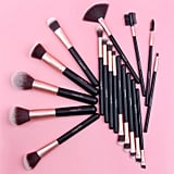 Ammiy 18-Piece Oval Makeup Brush Set
