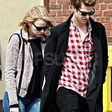 Emma Stone and Andrew Garfield enjoyed the Spring weather together.