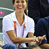 Kate Middleton smiled during the Olympics.