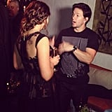 Not only was Sosie Bacon named the next Miss Golden Globe (in a pretty lace dress, no less), but she also got to mingle with stars like Mark Wahlberg at last Thursday's ceremony. Source: Instagram user sosiebacon