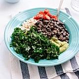 Easy Vegetarian Recipe: Kale, Black Bean, and Avocado Burrito Bowl