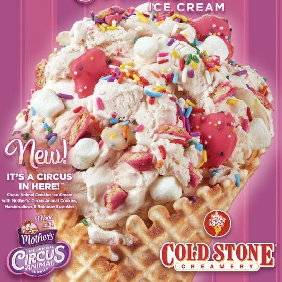 Cold Stone Circus Animal Cookie and Golden Oreo Ice Cream