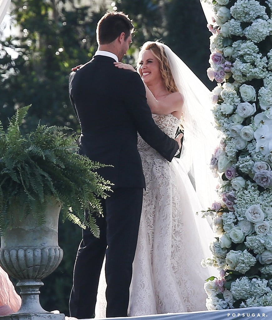 "Tara Lipinski wed Fox Sports producer Todd Kapostasy in a romantic outdoor ceremony in Charleston, SC, on June 24, and the wedding was as beautiful as you'd expect. The 35-year-old former Olympic figure skater was the epitome of a Southern belle in a strapless Reem Acra gown, which featured a 20-foot tulle skirt designed by Laura Basci, while her other half looked dapper in a black tux. Tara was all smiles as she read her vows to Todd and the two exchanged rings. The flower girls walked down the aisle with baskets that were created by Tara's mother, and Tara's close friend and fellow skater Johnny Weir served as one of the groomsmen.      Related:                                                                                                           Wedding Bells: All the Celebrity Couples Who've Said ""I Do"" This Year               Tara later took to Instagram to share photos from her big day, gushing, ""I am officially Mrs Kapostasy! Yesterday was by far the best day of my life. There was one moment during the ceremony where I thought, I can not be any happier than I am in this very moment. His vows will forever be etched in my mind. I am so happy and so in love with you @toddkap!"" Tara and Todd first met when she presented him with a trophy at the Sports Emmy Awards in 2015, and the two got engaged that December. Congrats to the newlyweds!      Related:                                                                                                           Wedding Bells: All the Celebrity Couples Who've Said ""I Do"" This Year"