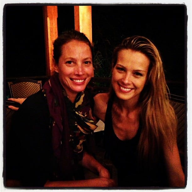 Christy Turlington ran into fellow model Petra Nemcova while doing charity work in Haiti. Source: Instagram user cturlington