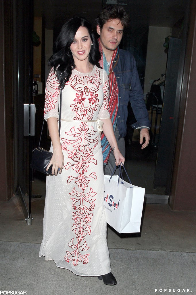 Katy Perry and John Mayer grabbed dinner in Brentwood.