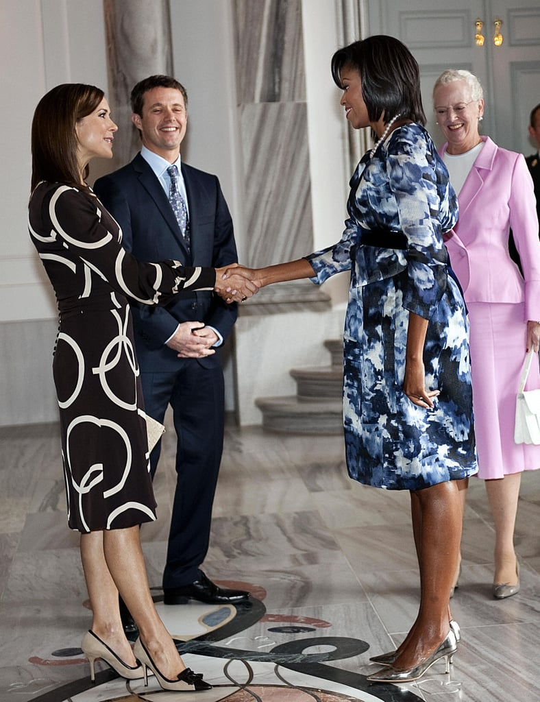 She Met Michelle Obama in a Patterned Dress