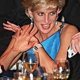 Princess Diana Wearing Her Aquamarine Ring