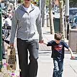 Tom Brady and Jack Moynahan held hands during a Whole Foods run in LA in April.