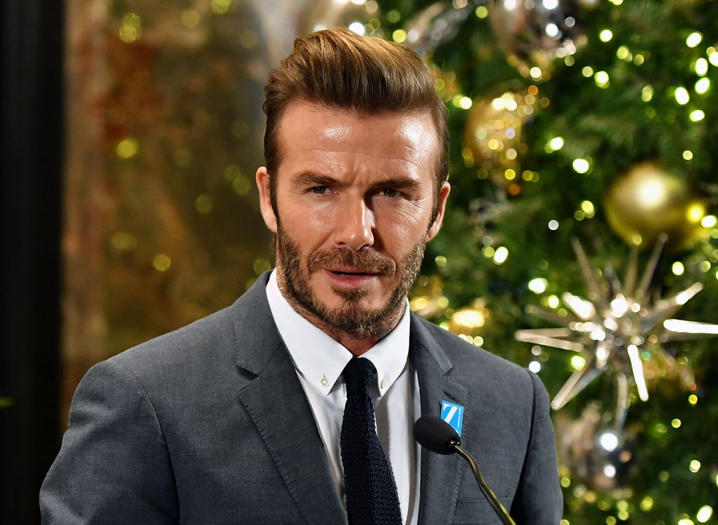 david beckham lights the empire state building dec 2016 popsugar celebrity. Black Bedroom Furniture Sets. Home Design Ideas